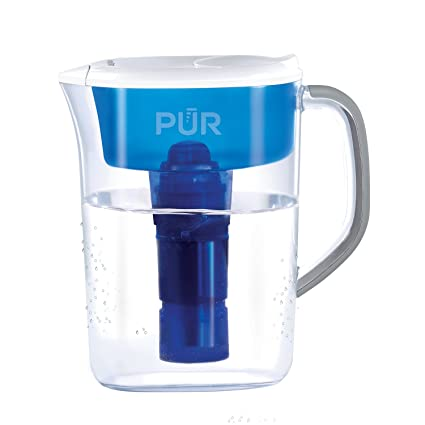PUR 7 Cup Basic Water Filtration Pitcher, Filter Helps Reduce Chlorine  Taste and Odor, Filter Provides Up To 40 Gallons or About 2 Months of  Filtered