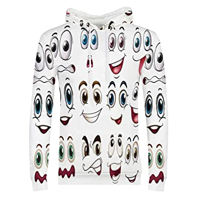 Amazoncom Cartoon Decor Sweatshirtsmiley Face Emoji Cartoon Hand