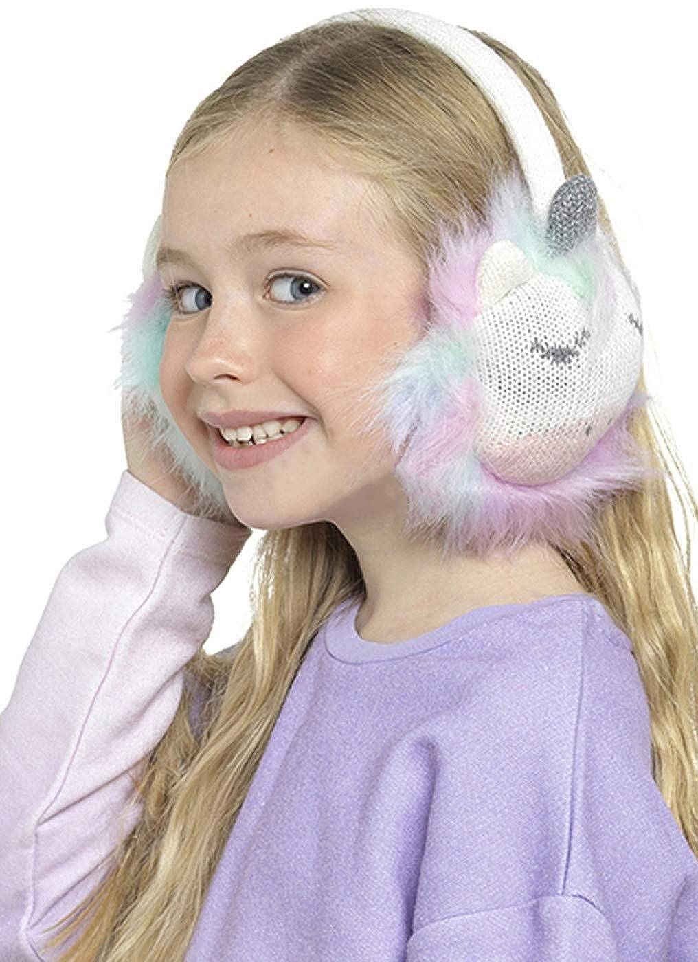 Gimbles/® New Kids Girls Rainbow Fluffy Ear Warmer Winter Xmas Gift Unicorn Earmuffs