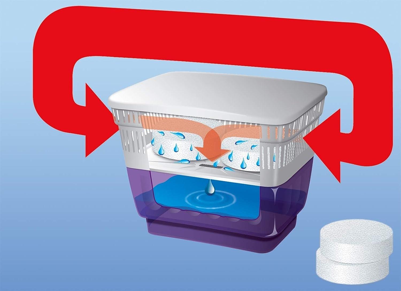 L x l x H 26 x 19 x 20 cm 2 kg de granul/és de s/échage Wellgro D/éshumidificateur Humidificateur Bleu Plastique Aimant dhumidit/é