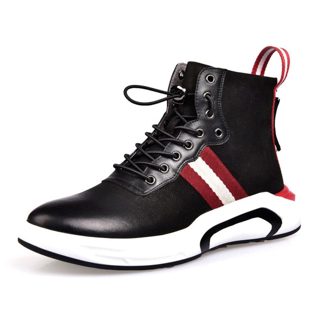DHFUD Männer Schuhe Winter Koreanische High-Top-Schuhe Schuhe Aus Leder Sportschuhe