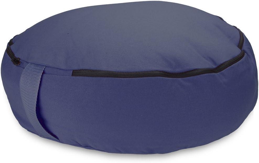 "Crown Sporting Goods 18"" Round Heavy Canvas Zafu Meditation Cushion (Blue)"