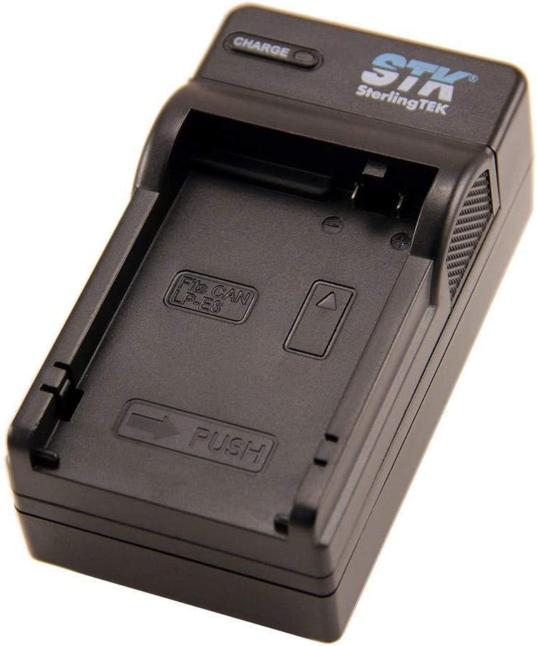 STK LP-E8 Battery Charger - for Canon Rebel T3i, T2i, T4i, T5i, EOS 600D, 550D, 650D, 700D, Kiss X5, X4, Kiss X6, Canon LC-E8E Replacement : Digital Camera Battery Chargers : Camera & Photo
