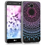 kwmobile Crystal Case Cover for LG X power 2 TPU silicone IMD design protective case - soft mobile cover Design Indian sun
