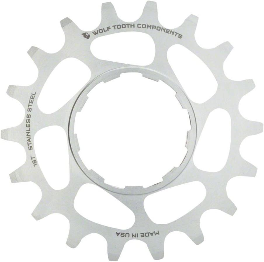 Wolf Tooth Components Single Speed Aluminum Cog 18T Compatible with 3//32 chains