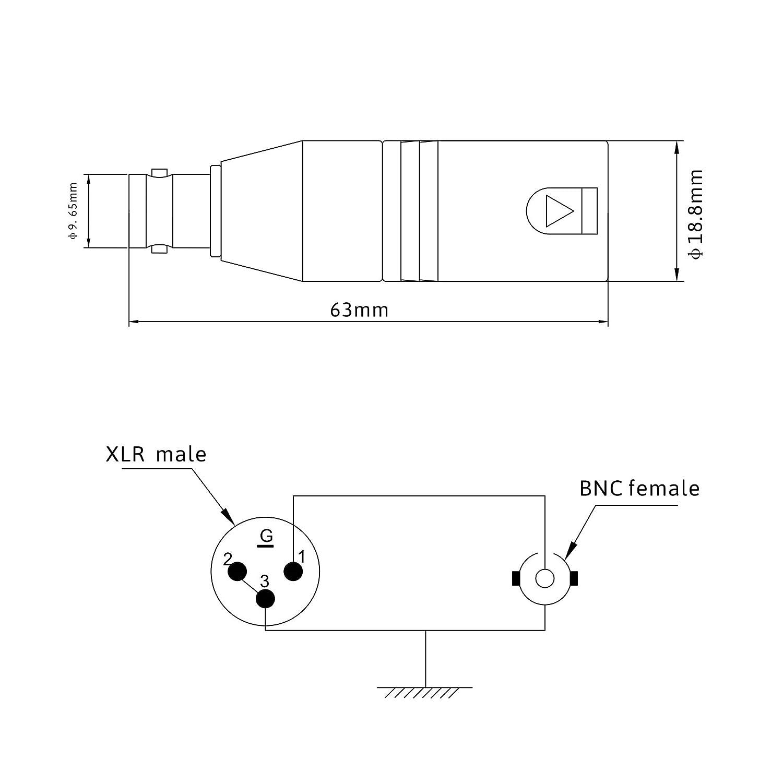 wiring xlr bnc smart wiring diagrams \u2022 solder xlr connector wiring diagram amazon com keilton xlr 3 pole male to bnc female cable adapter rh amazon com bnc cable bnc cable connection