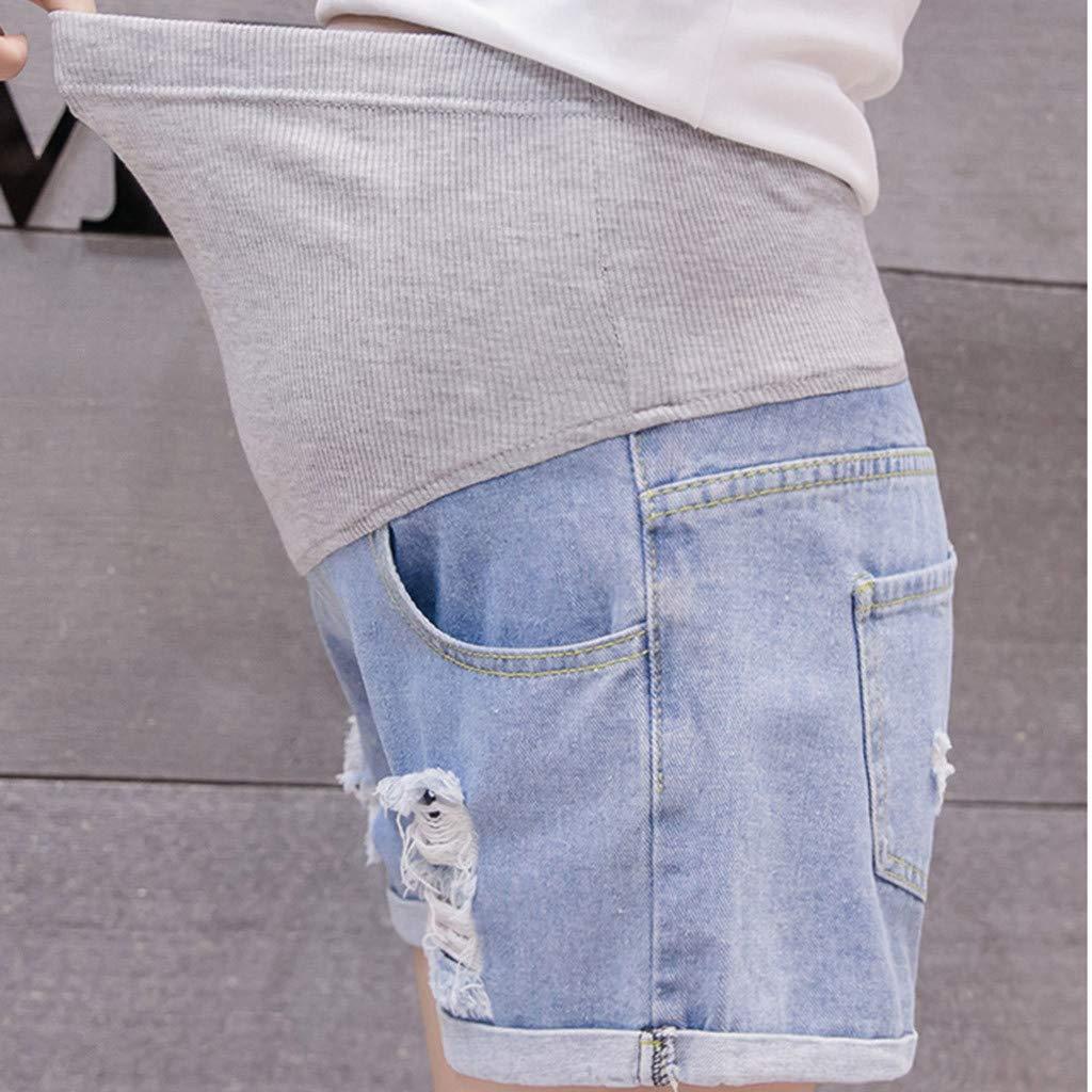 LHWY Premam/á Invierno Leggins Abrigos Embarazo Maternidad Pantalones Pitillo Jeans sobre Los Pantalones El/áSticos