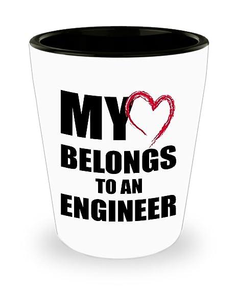 Vaso de chupito de regalo de ingeniero, romántico para ...