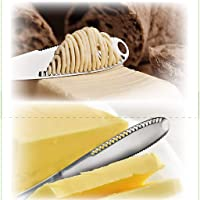 Butter Tool, LtrottedJ Stainless Steel Better Butter Spreader - Easy Spread Cold Hard Butter (A)