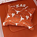 Sports Coverage NCAA Texas Longhorns All Over Shams, Standard, Dark Orange
