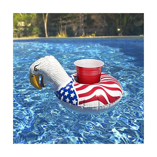 GoFloats Inflatable Pool Drink Holders (3 Pack) Designed in the US - Huge Selection from Unicorn, Flamingo, Palm and… 7