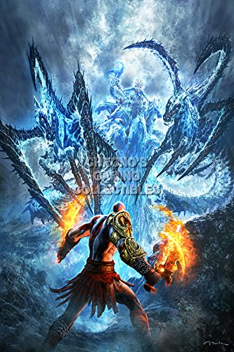 "Price comparison product image God of War CGC Huge Poster Glossy Finish III Kratos VS Poiseidon Sony PS2 PS3 PS4 PSP Vita - GOW029 (16"" x 24"" (41cm x 61cm))"