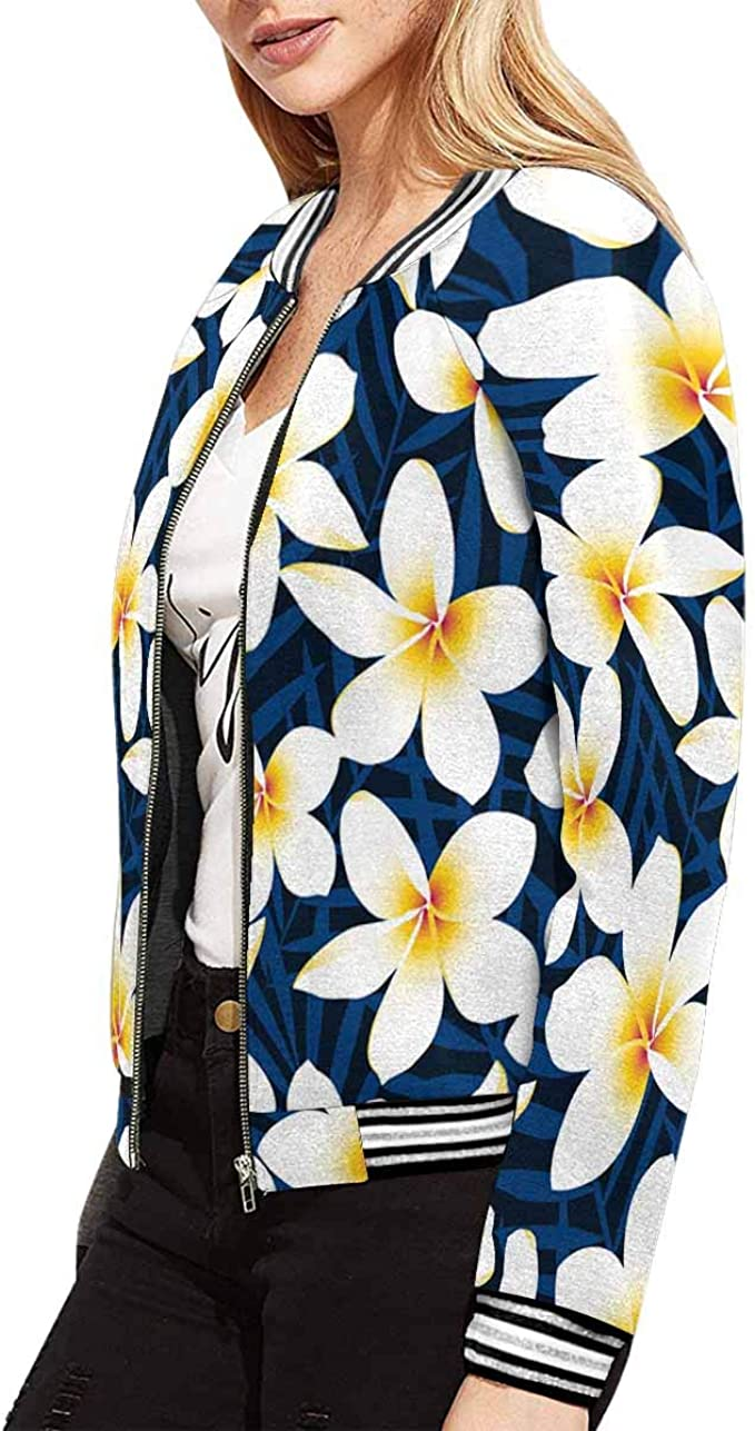 INTERESTPRINT Childs T-Shirt Tropical White Frangipani Plumeria Flower XS-XL