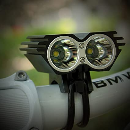 SolarStorm 5000 LM 2x T6 LED Front Bicycle Light Bike Headlight Lamp Only Light