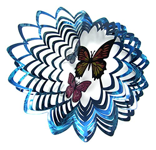 "Shipityourway 3D Wind Spinner 12"" 3D Wind Spinner Butterfly"