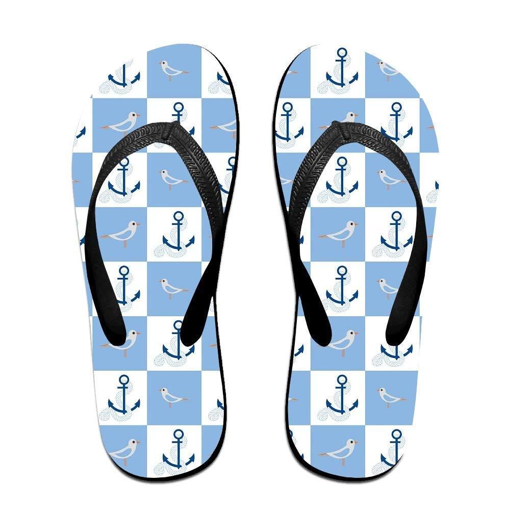 Kelysun Summer Beach Sanls Nautical Comfortable Flip-Flop Multiple Sizes Unisex
