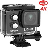 "SJCAM SJ7 Star Real 4K Action Camera-Ambarella Chipset 4K 30FPS/2"" TouchScreen/Sony Sensor 12MP/Wifi Underwater Camera/Remote Control/Microphone Supported/Gyro Stabilization+ Waterproof Case"