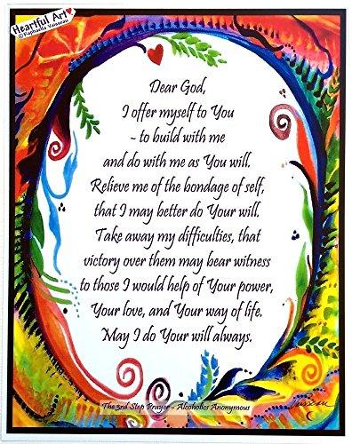 Dear God 3rd Step Prayer Aa poster - Heartful Art by Raphaella Vaisseau