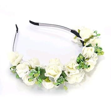 Katara 0708302035057 Braut Kopfschmuck Blume Hochzeit Haarreif