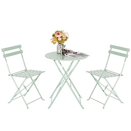 Amazon Com Marble Field Patio 3 Piece Folding Bistro Furniture Set