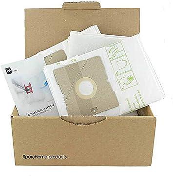 Ufesa - 10 Bolsas de Alta filtración para aspiradores Ufesa AC3050, AC3055 y AC5050: Amazon.es: Hogar