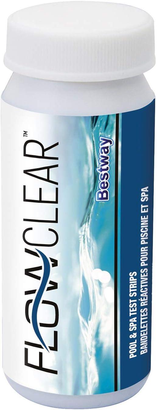 Bestway 58142 - Medidor de pH, Cloro y Cal 3 en 1 50 Tiras Para Picinas y Spas