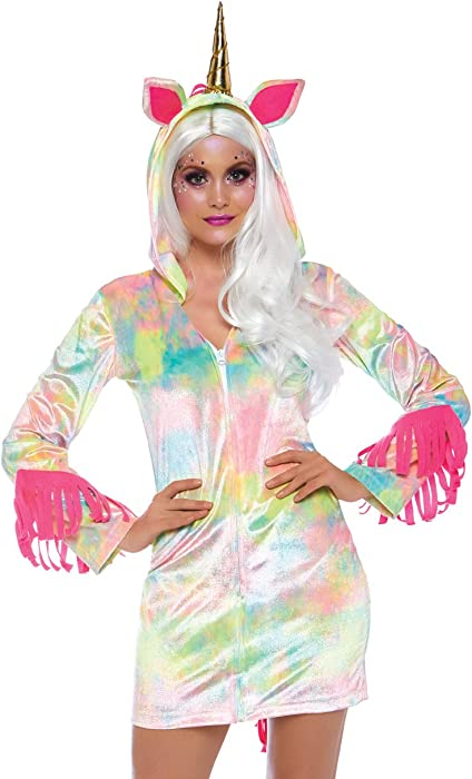 a0a6a3d150a Amazon.com  Leg Avenue Womens Plus Enchanted Rainbow Unicorn Costume ...