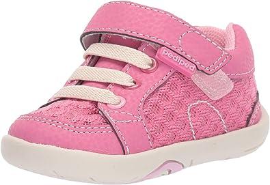 pediped Girls' Dani First Walker Shoe, Pink Carnation