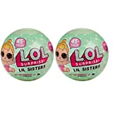 Set of 2 Balls LiL Sister Surprise LOL Outrageous Littles Series 2 - 5 Layers