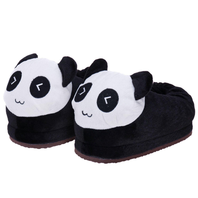 Gosear Inverno Donne Ragazze Carino Fumetto Panda Modello Morbido Caldo Coperta Pantofole Scarpe Dimensione 35-39 B