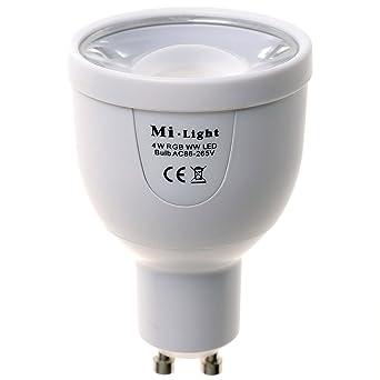 Blanc À Led Kingled Spot Mi Gu10 Code Wifi 450lm Distance Ampoule Et Chaud Milight Rgbw Fut018 3000k Light 5w 2700k Gestion Multicolore 2278 0O8Pnwk