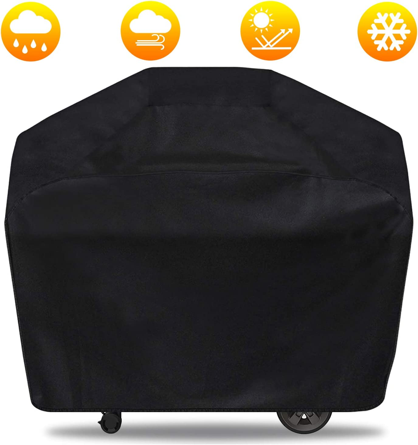 Kamado Joe UV /& Dust /& Weather Resistant Material 30 inch Waterproof BBQ Grill Cover 30 inch, Black Char-Griller Durable Gas Grill Cover fit for Big Green Egg Pit Boss Louisiana