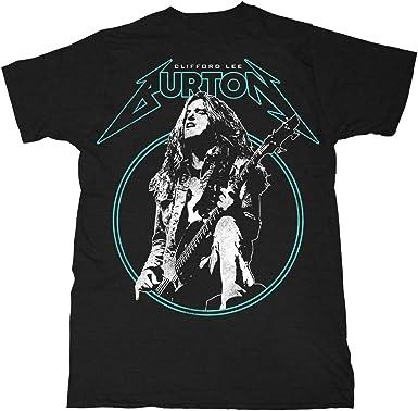 Cliff Burton Metallica Master of Puppets Live Oficial Camiseta para Hombre: Amazon.es: Ropa y accesorios