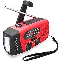 $23 » Weather Radio, NOAA Solar Radio, Emergency Hand Crank Self Powered AM/FM Solar Weather…