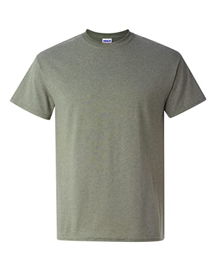 Gildan 5000 Adult Heavy Cotton T Shirt Heather Military Green X