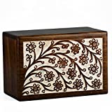 STAR INDIA CRAFT Rosewood Urns for Human Ashes Adult - A Perfect Cremation Urns for Ashes, Dark Brown Funeral Urn Box for Human Ashes, Pet Memorial Urns for Dogs,Cats (11.5x7x6-340 Cu/in)