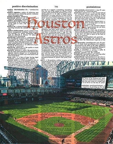 Houston Astros photo Dictionary Art Print Minute Maid Park photo Baseball Art Gift For Him Vintage Dictionary Paper - Houston Astro Stadium