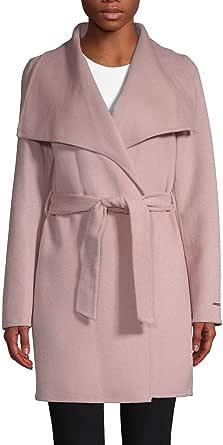 Tahari Ella Women's Wool Blend Double Face Warm Wool Wrap Coat