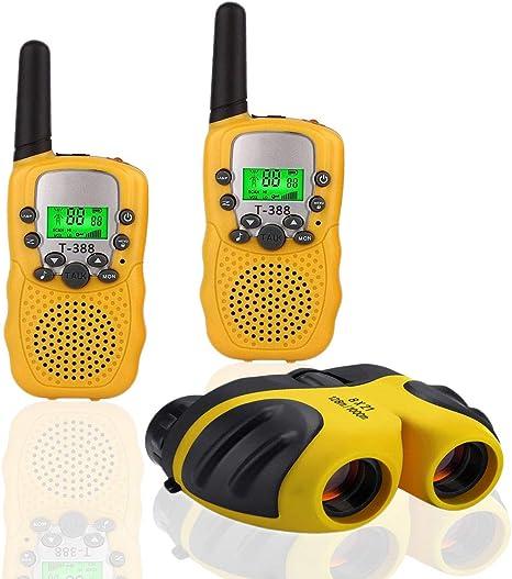Regalo para Ni/ños De 3-12 A/ños 1set Amarillo JRD/&BS WINL Walkie-Talkie para Ni/ños Y Telescopio para Ni/ños