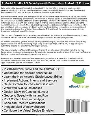 Android Studio 2 3 Development Essentials: Neil Smyth