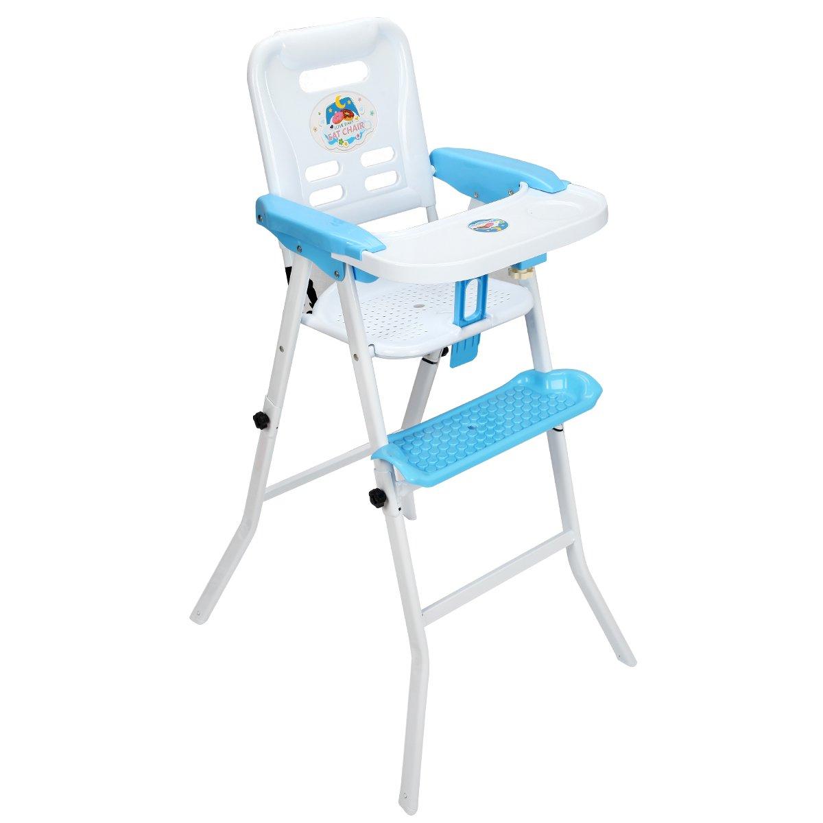 4 IN 1 Multi Kinderhochstuhl mit Schaukelfunktion Hochstuhl Kombihochstuhl Schaukelstuhl Treppenhochstuhl Babyhochstuhl (Blau) Blitzzauber 24