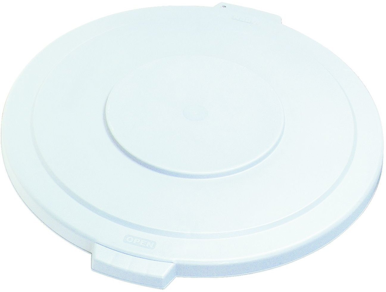 Carlisle 34105602 Bronco Polyethylene Round Lid, 26-1/2 x 2-1/4'', White, For 55-gal. Trash Containers (Case of 2)