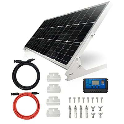 TP-solar 100W 12V Solar Panel Kit Battery Charger 100 Watt 12 Volt Off Grid System for Homes RV Boat + 20A Solar Charge Controller + Solar Cables + Brackets for Mounting : Garden & Outdoor