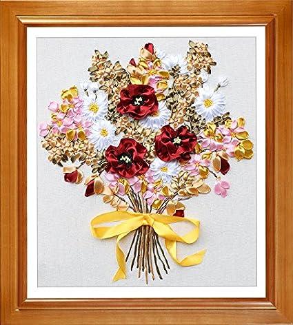 Amazon Ribbon Embroidery Kit Fanryn 3d Silk Ribbon Embroidery