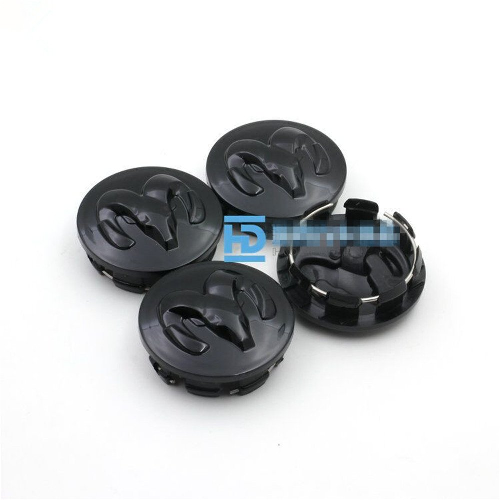 64mm-2, black Automelody 4pcs A Set Of Wheel Center Caps Hubcap For Dodge Caravan Caliber JCUV RAM