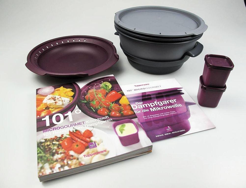 Tupperware Microondas Micro Gourmet gris, Vapor, moldes Lila (2 ...