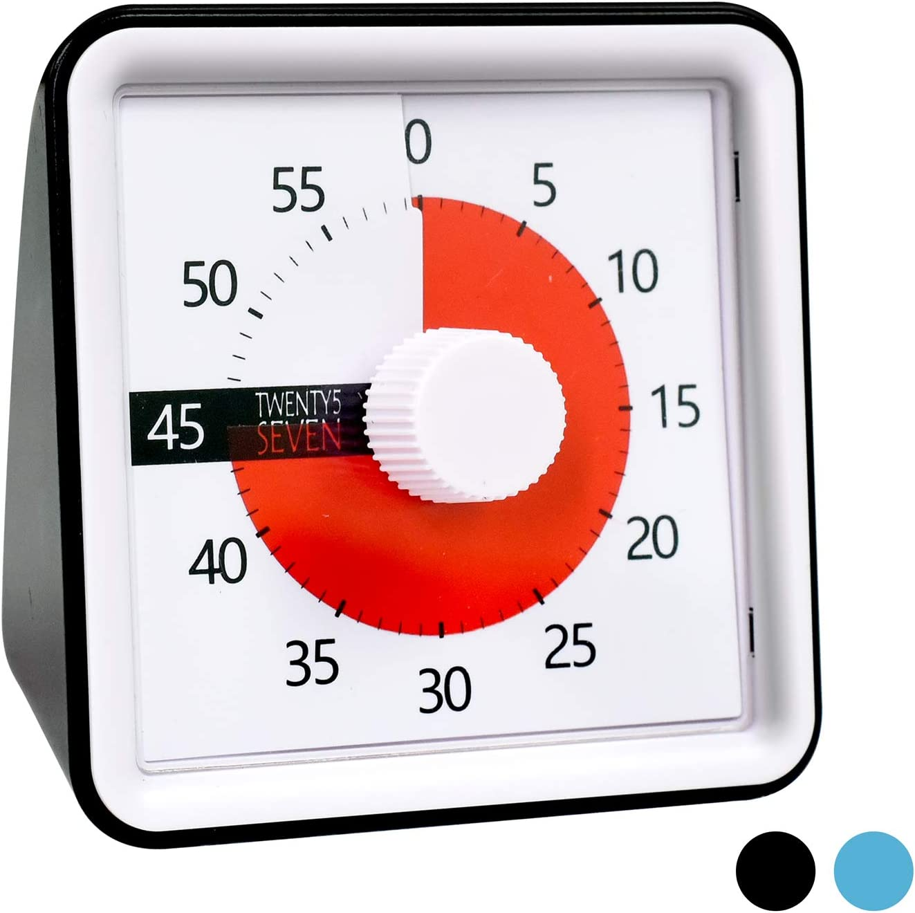 Countdown Timer 3 inch; 60 Minute 1 hour Visual Timer – Classroom Teaching Tool Office Meeting, Countdown Clock for Kids Exam Time Management -Black