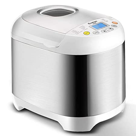 Automatic Bread Machine with 19 Programs, BestComfort 2L Programmable Bread Maker, 15 Hours Delay Timer, 1 Hour Keep Warm style 2