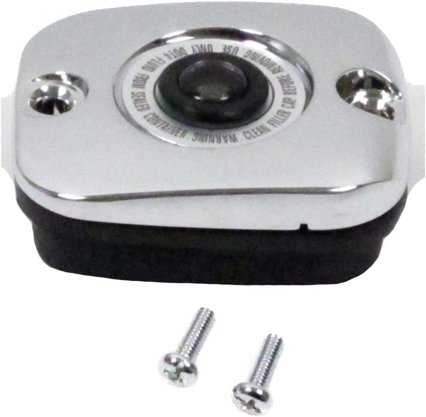 Hill Country Customs Chrome Front Brake Master Cylinder Cover for 1996-2005 Harley-Davidson Softail models