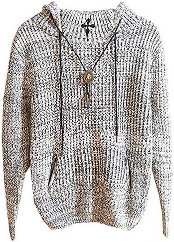 セーター ニット メンズ プルオーバー フード付き 長袖 編み ゆったり トップス アウター 厚手 裏起毛 秋冬 ゆったり カジュアル